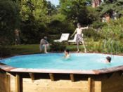 Plastica 5.1m x 7.5m Eco Wooden Swimming Pool